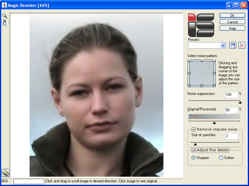 Click to view Magic Denoiser 1.5 screenshot