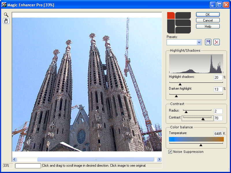 Improve your photos using Magic Enhancer.