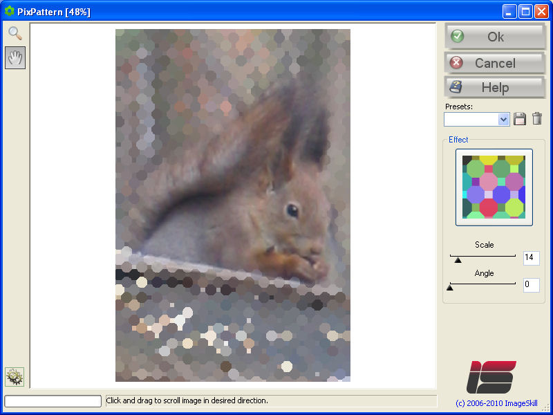 Plugin transforming your photos into a mosaic